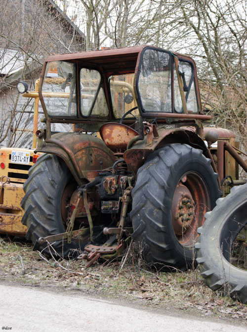 traktor,gammal